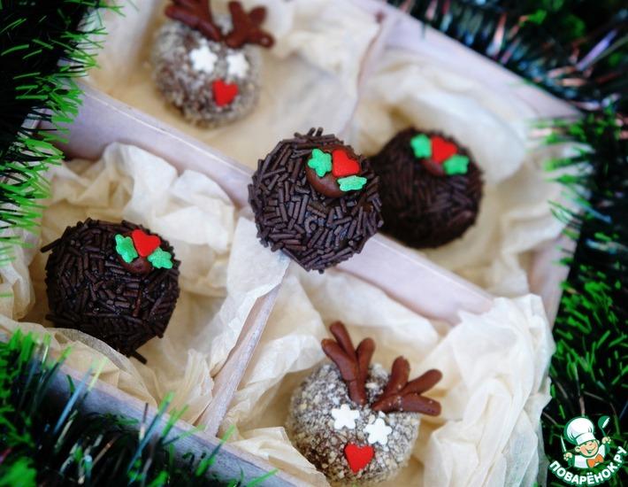 Рецепт: Новогодние Шоколадные Трюфели