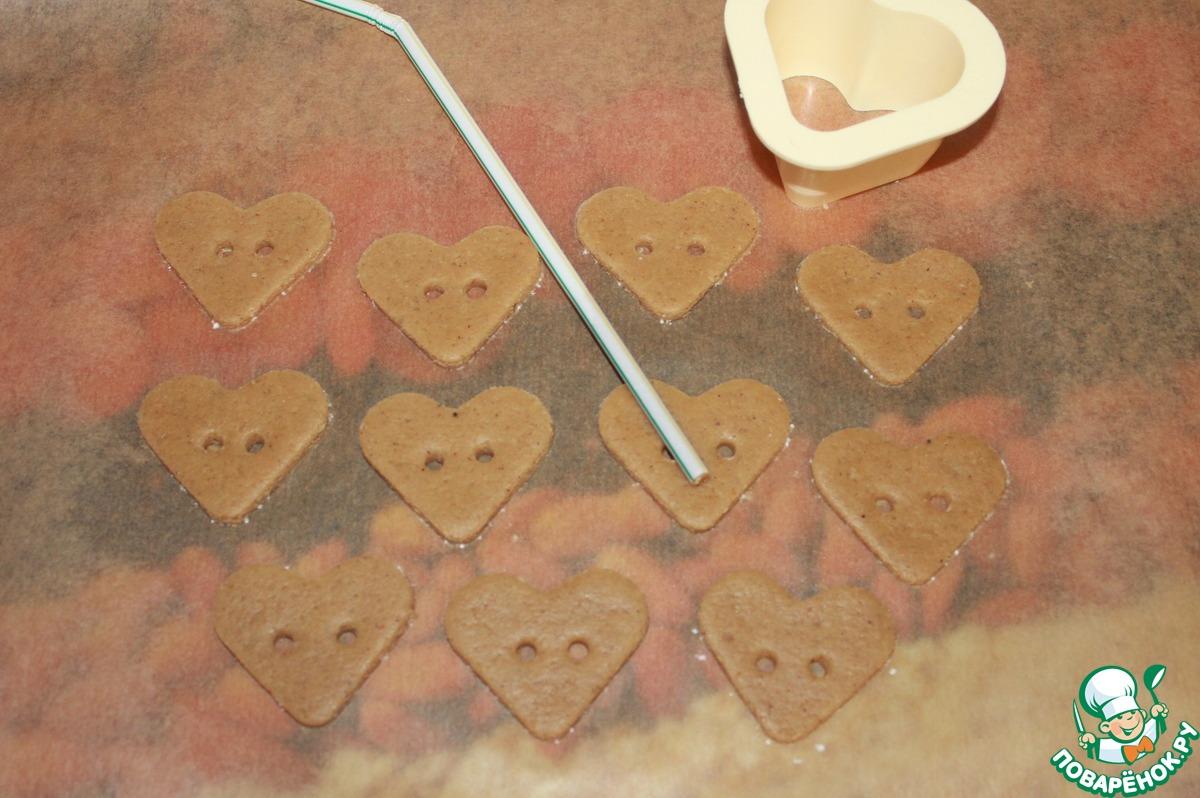 Медовые крекеры с новогодними пожеланиями