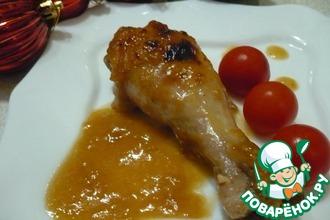 Рецепт: Куриные голени в имбирно-апельсиновом соусе