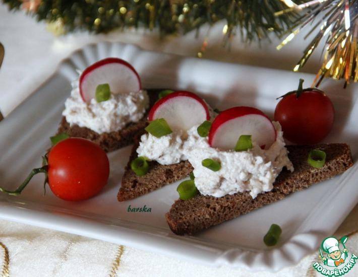 Рецепт: Паштет из сельди с творогом и орехами