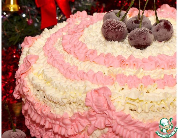 Рецепт: Торт медово-сметанный Иней
