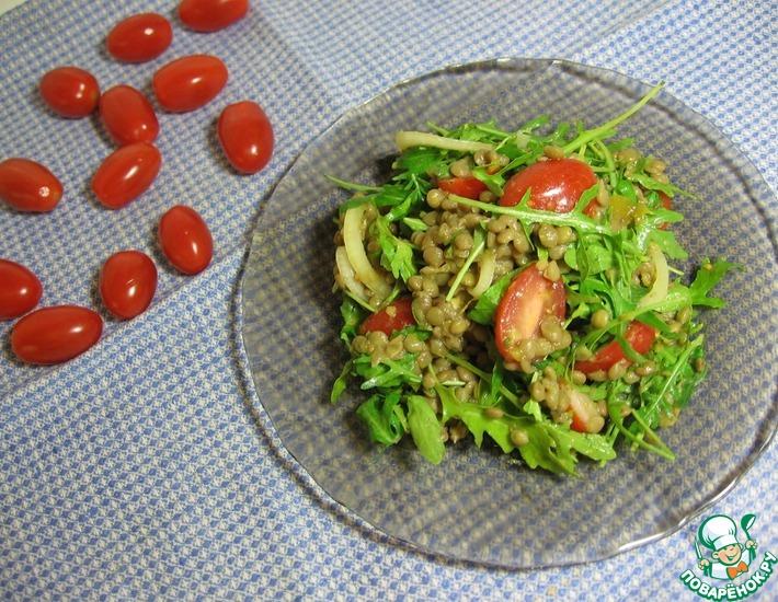 Рецепт: Салат чечевичный с чатни из манго