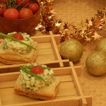 Слойки закусочные с яичным салатом