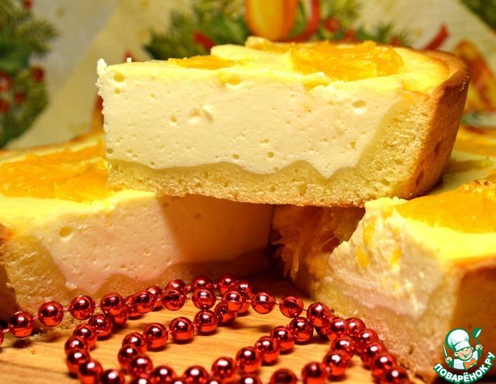 Рецепт: Торт Апельсины на снегу