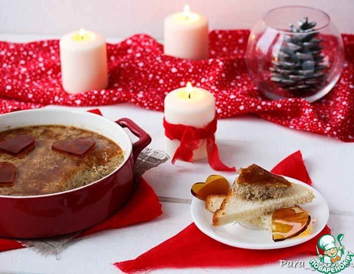 Рецепт: Рийет из кролика и печени с мармеладом
