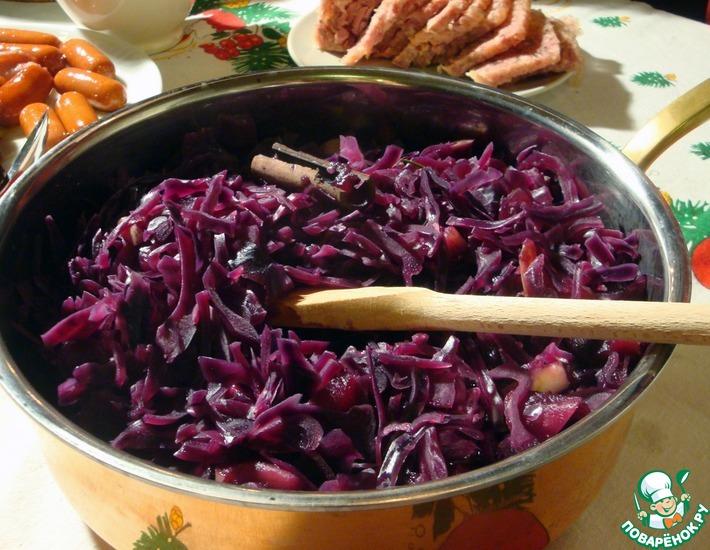 Чешский рецепт красная тушеная капуста