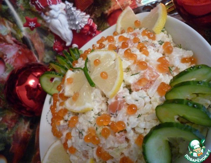 Рецепт: Салат Нежная рыбка