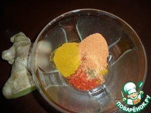 Курица, фаршированная ананасами с имбирем – кулинарный рецепт