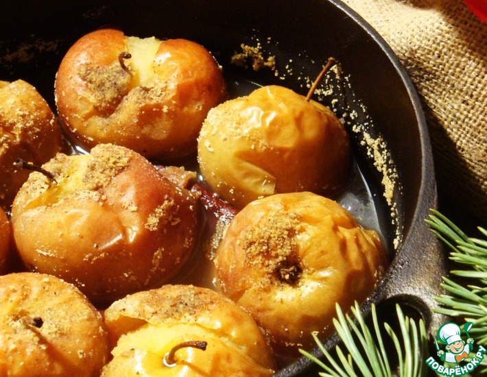 Рецепт: Печёные яблоки в пряном сиропе