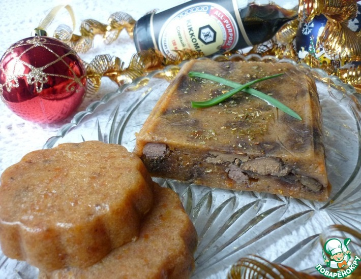 Рецепт: Утиная печень с хурмой
