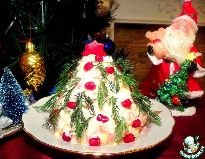 Рецепт: Салат Новогодняя елка