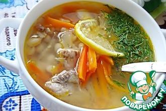 Рецепт: Рыбный суп с белой фасолью