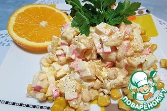 Рецепт: Салат с крабовыми палочками и апельсином