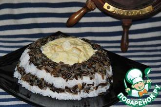 Рецепт: Морские гребешки с рисом В тельняшке