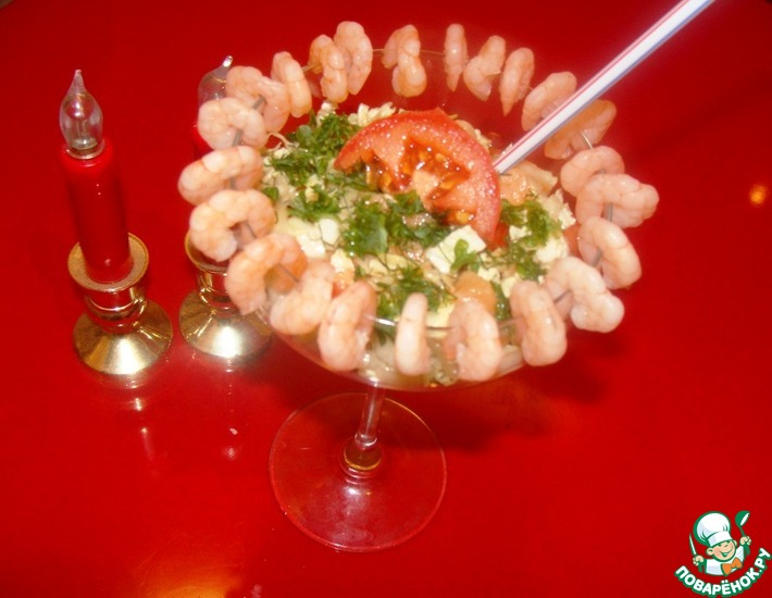 Рецепт: Салат Морской десант