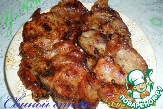 Рецепт: Свиной стейк в кисло-сладком маринаде