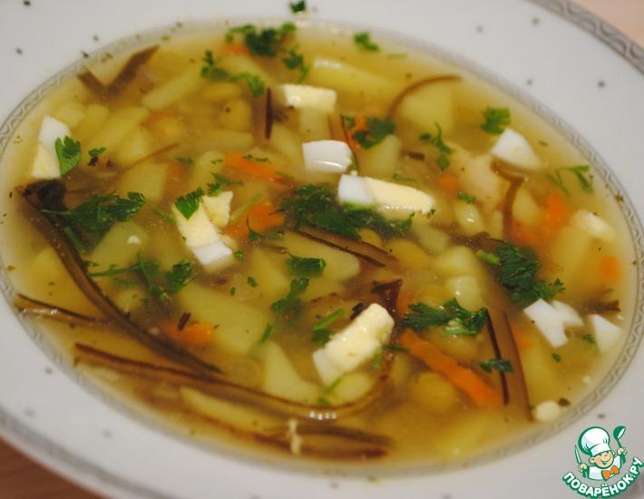 Рецепт: Суп из морской капусты