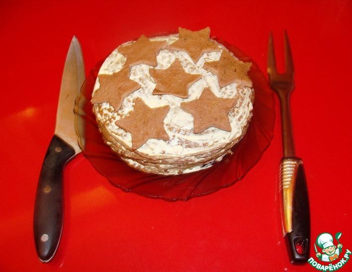 Рецепт: Торт печеночный Армейские звезды