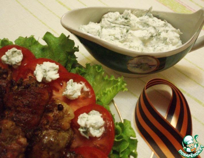 Рецепт: Крученики генеральские с чесночным соусом