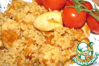 Рецепт: Куриная грудка с рисом
