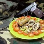 Свиные пальчики Боеприпасы солдата, фаршированные грибами и сыром