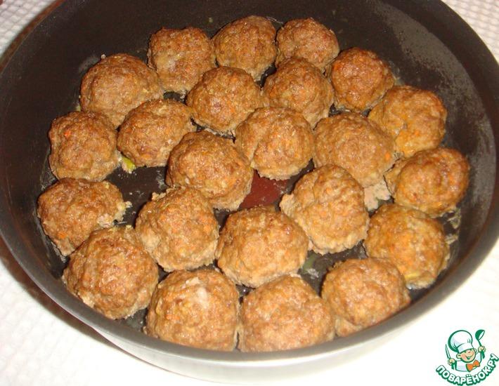 Рецепт: Котлетные шарики, запеченные в духовке