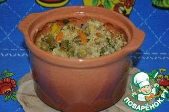 Рецепт: Каша пшеничная с овощами
