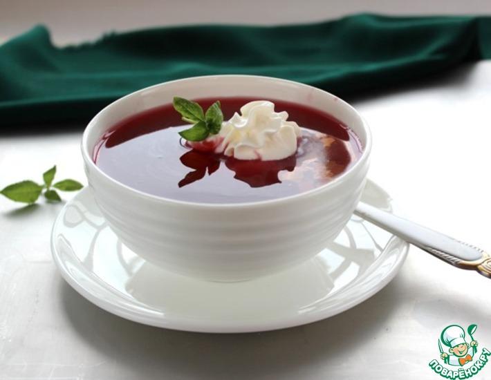 Рецепт: Вишневый суп