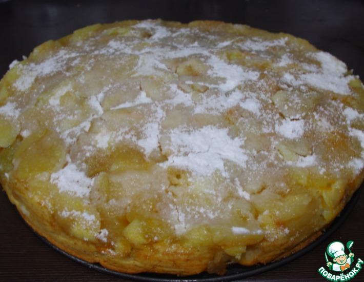 Рецепт: Яблочный пирог с ароматом рома и цитрусов