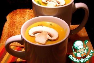 Рецепт: Cуп-пюре пшённый с грибами