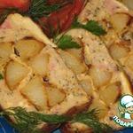 Куриная буханка с печеным картофелем