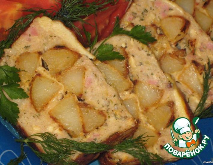 Рецепт: Куриная буханка с печеным картофелем