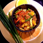 Зажарка вегетарианская с пшеном