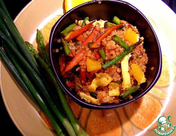 Рецепт: Зажарка вегетарианская с пшеном
