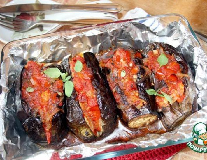 Рецепт: Баклажаны с овощами по старинному родосскому рецепту