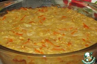 Рецепт: Сладкая запеканка из лапши с морковью