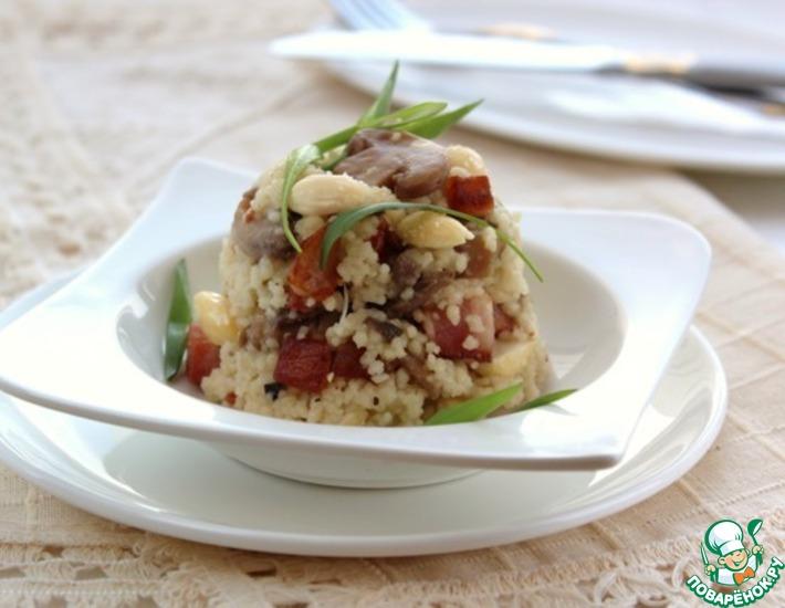 Рецепт: Теплый салат с шампиньонами
