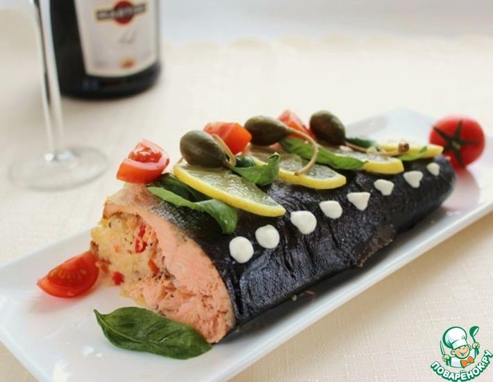 Рецепт: Запеченная рыба с кус-кусом