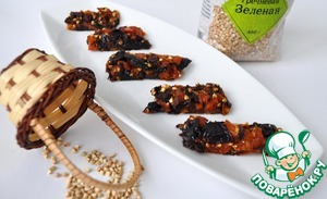 Energy bars with sprouted green buckwheat