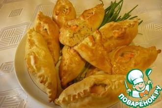 Рецепт: Расстегаи с рыбой и рисом рыбацкие