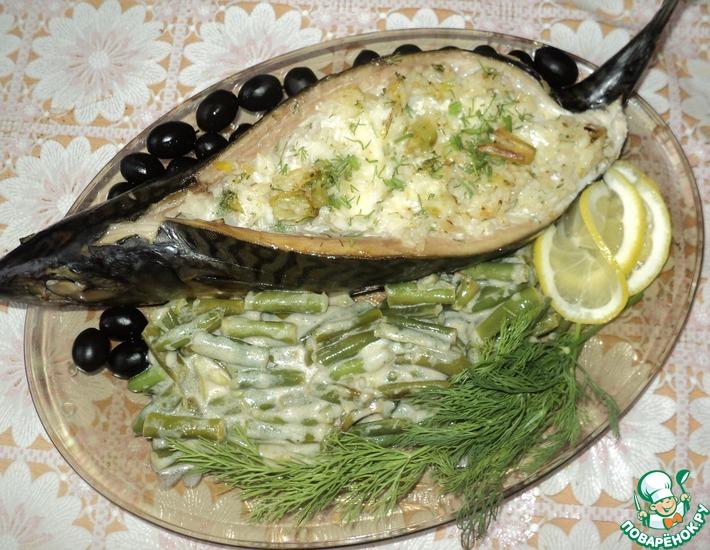 Рецепт: Скумбрия, запечённая с рисом и моцареллой Субмарина