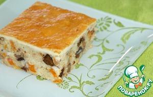 Millet casserole with cream blanket