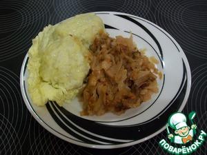 Рецепт Страпачки. Картофельные галушки с квашеной тушеной капустой. Словацкая кухня