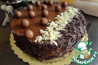 Рецепт: Торт с шоколадным муссом и грушевым желе