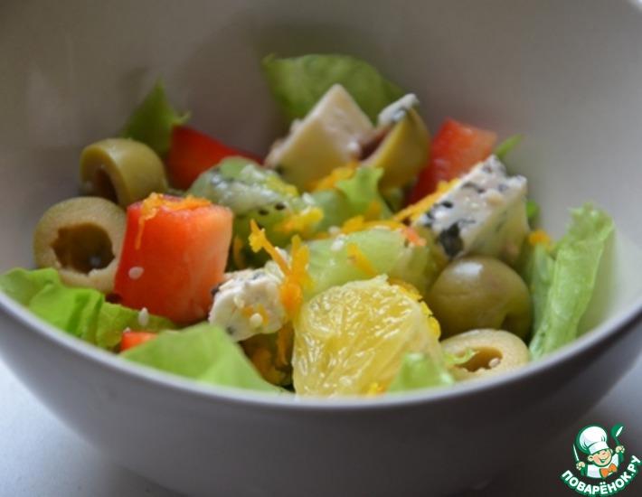 рецепт фруктовоовощной салат
