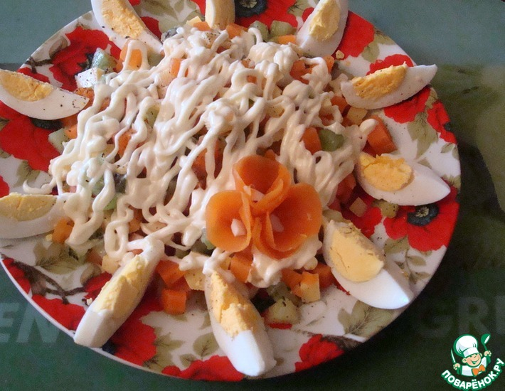 Рецепт: Салат из киви Весеннее настроение