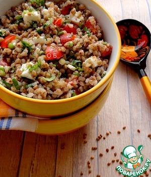 Рецепт Теплый салат из гречневой крупы