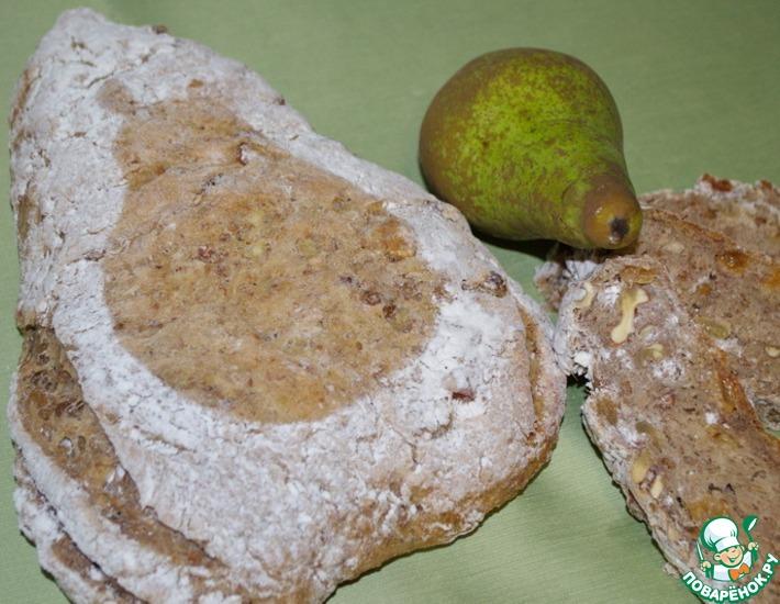 Рецепт: Гречневый хлеб с грушей и орехами