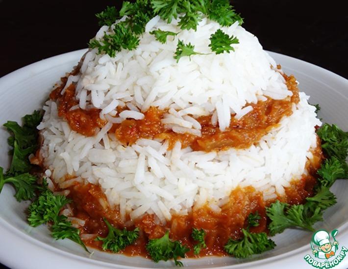 Рецепт: Рис с овощной икрой