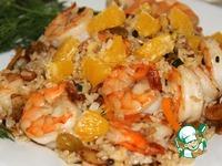 Коричневый рис с креветками ингредиенты